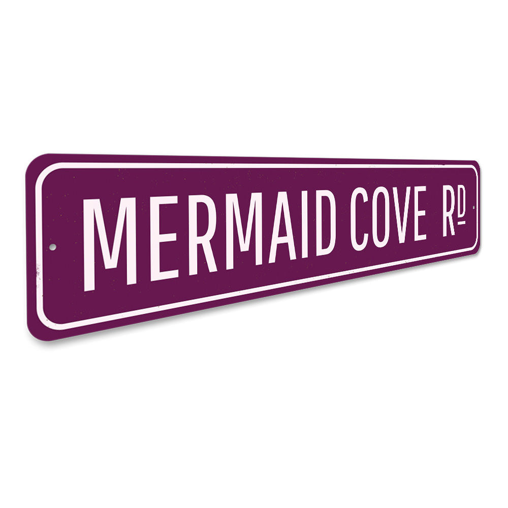 Mermaid Cove Sign Aluminum Sign