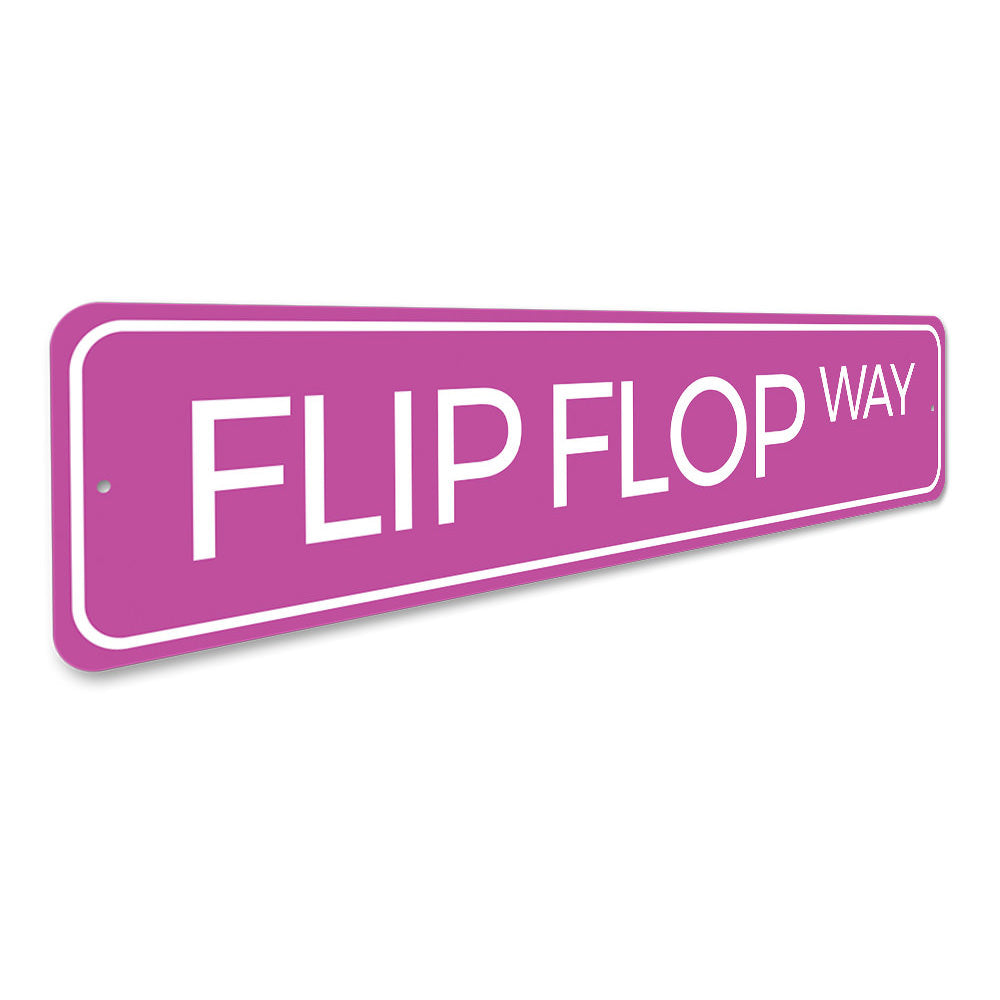Flip Flop Way Sign Aluminum Sign