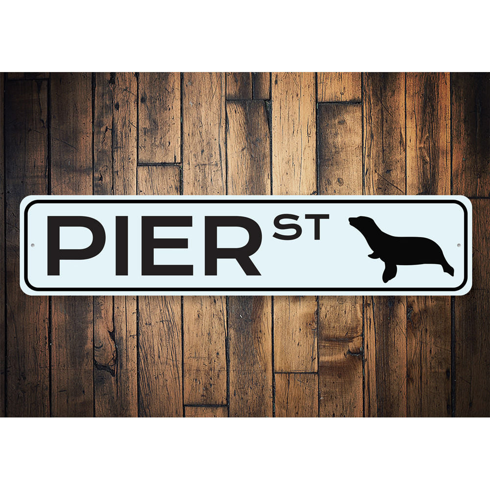Pier Street Sign Aluminum Sign