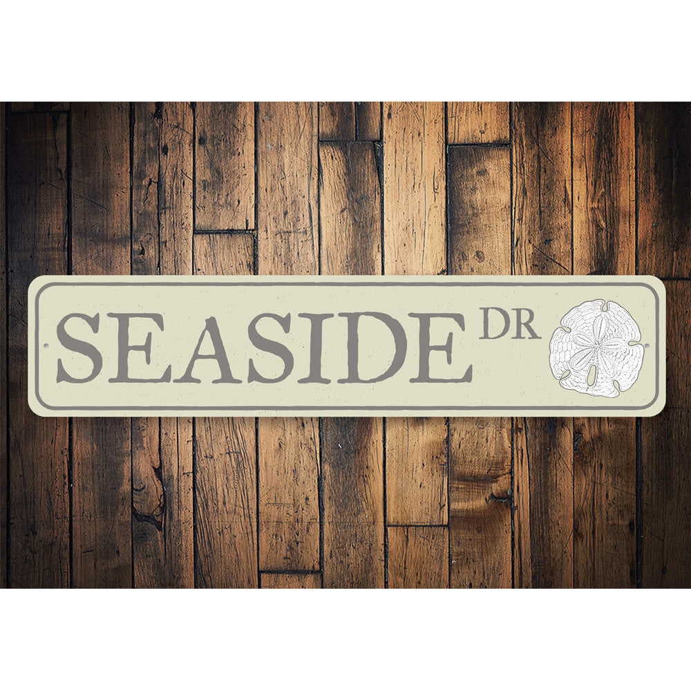 Seaside Drive Sign Aluminum Sign