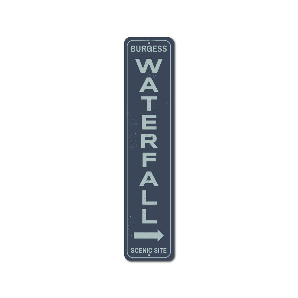 Waterfall Vertical Sign Aluminum Sign