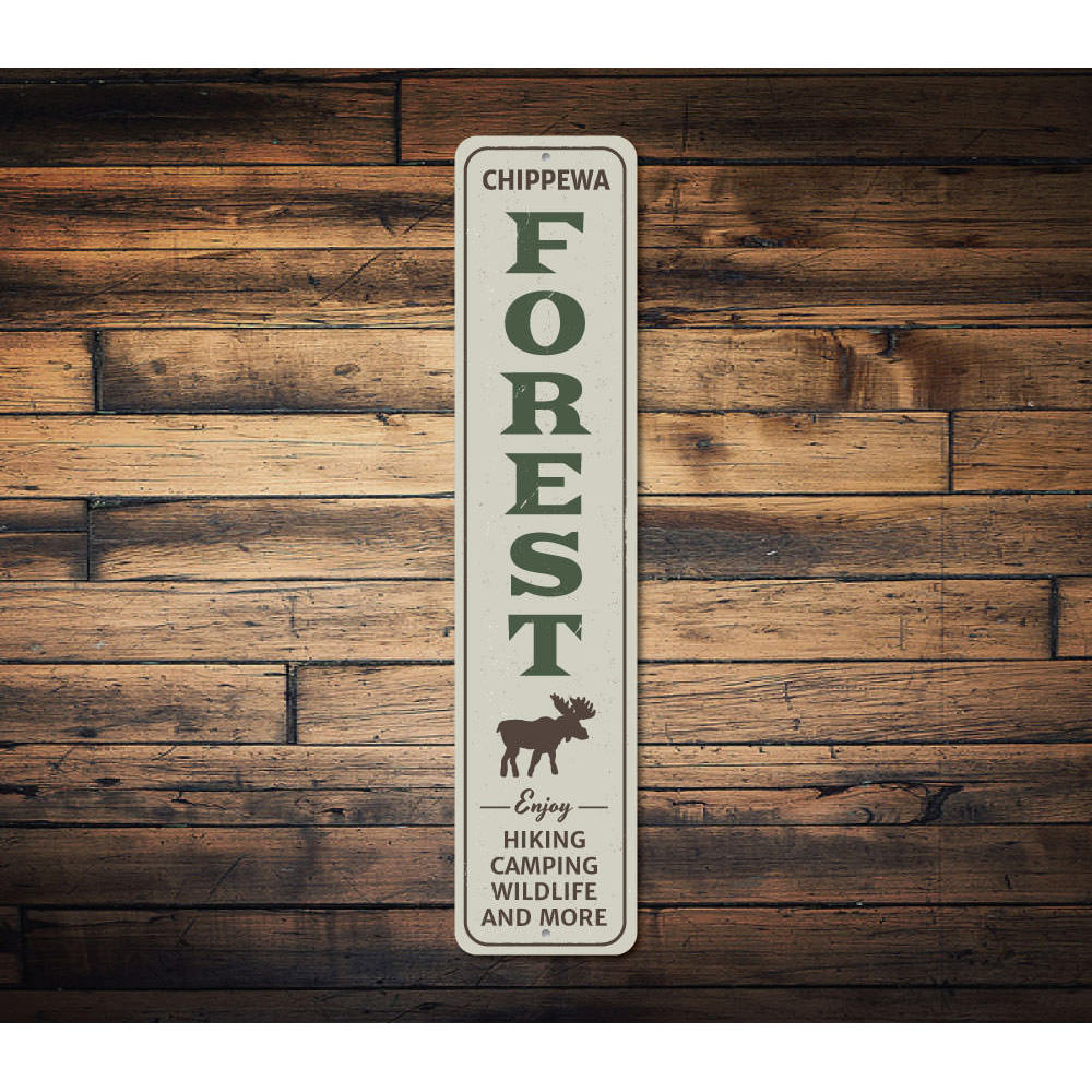 Forest Vertical Sign Aluminum Sign
