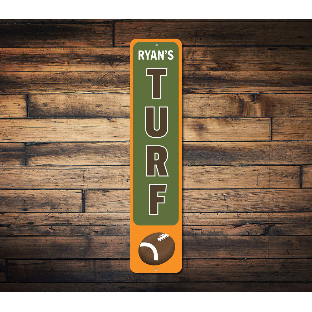 Football Turf Vertical Sign Aluminum Sign