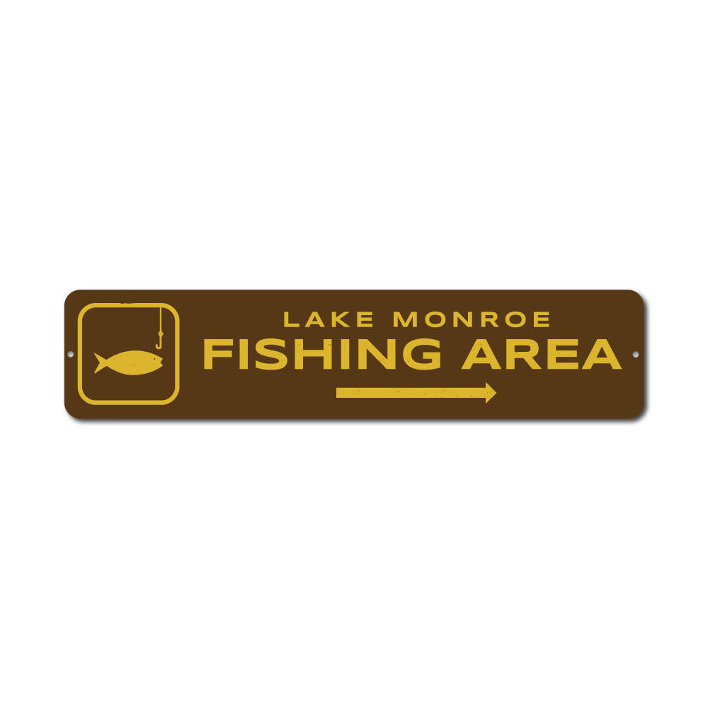 Fishing Area Sign Aluminum Sign
