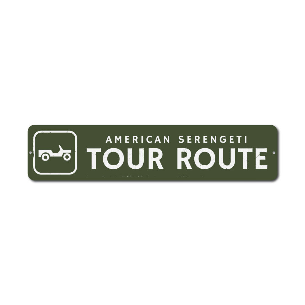 Tour Route Sign Aluminum Sign