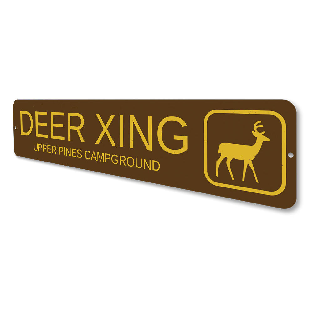 Deer Crossing Trail Sign Aluminum Sign