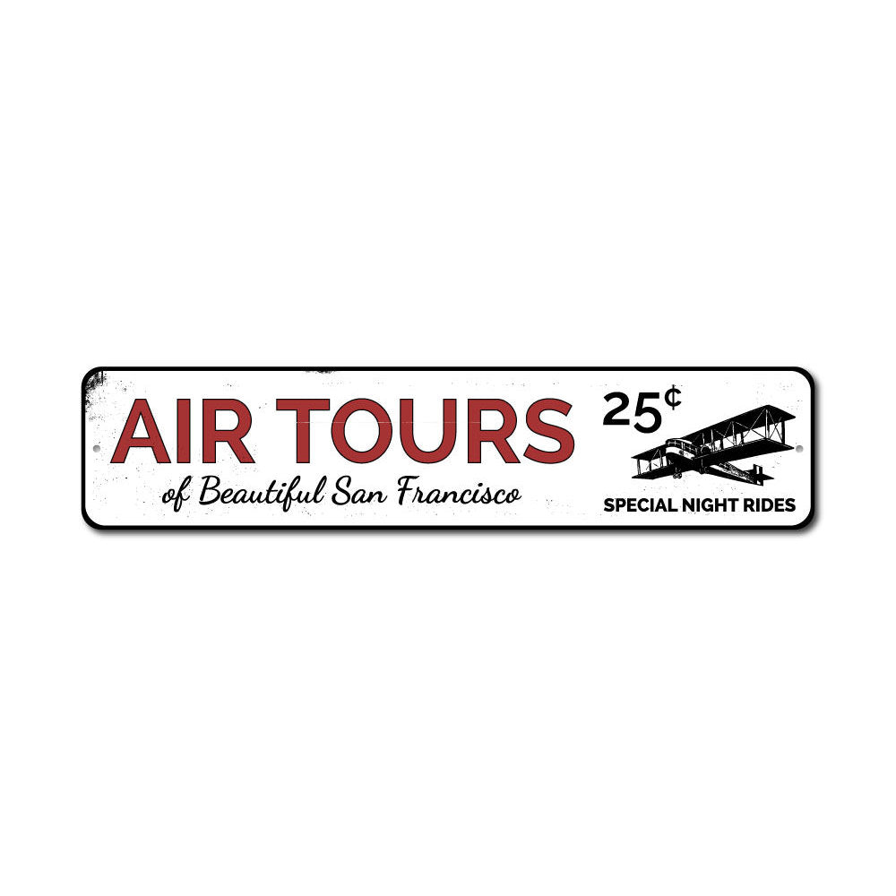 Air Tours Sign Aluminum Sign