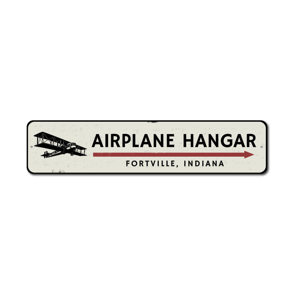 Airplane Hangar Sign Aluminum Sign