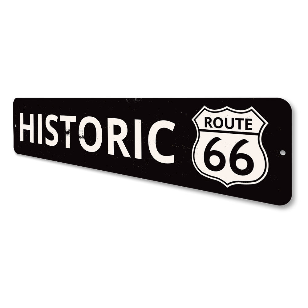 Historic Route 66 Sign Aluminum Sign