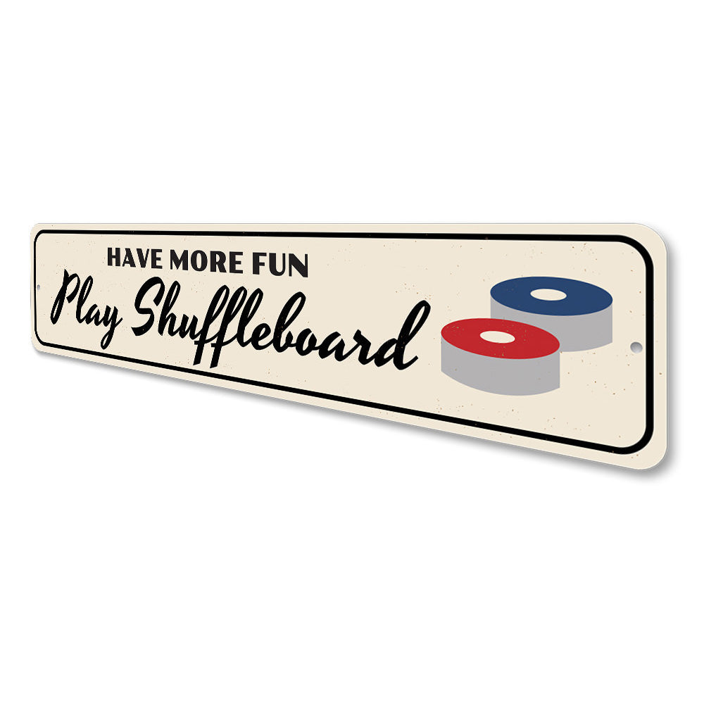 Fun Shuffleboard Sign Aluminum Sign