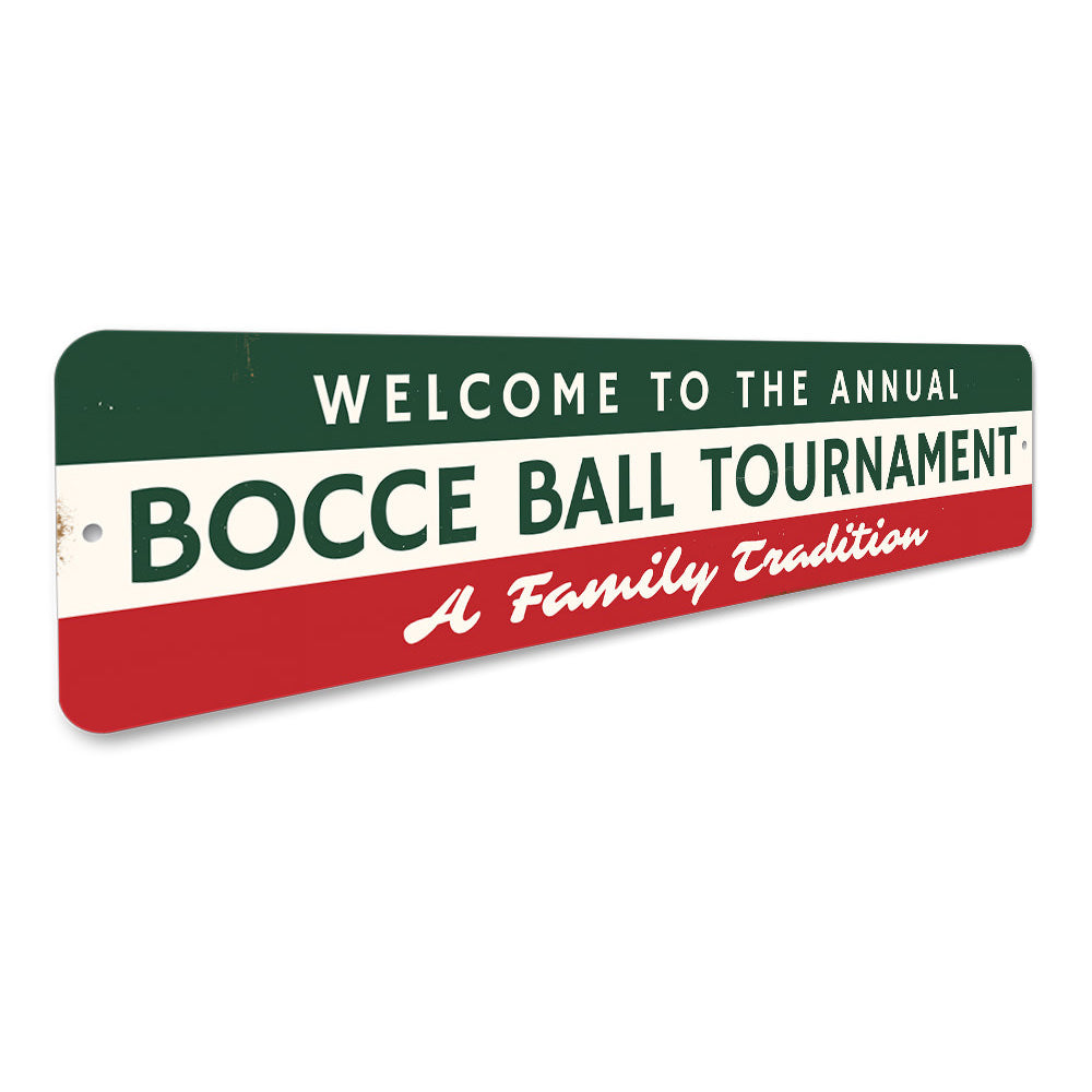Bocce Ball Tournament Sign Aluminum Sign