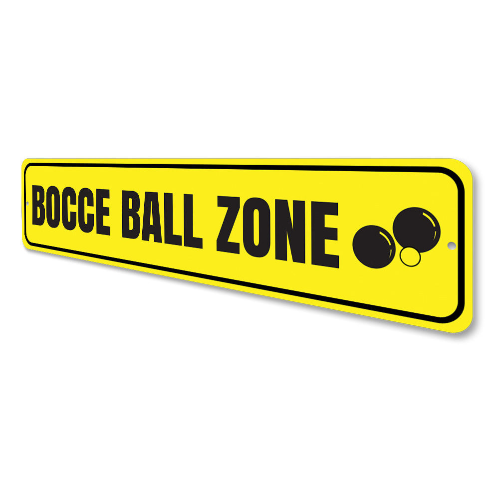 Bocce Ball Zone Sign Aluminum Sign
