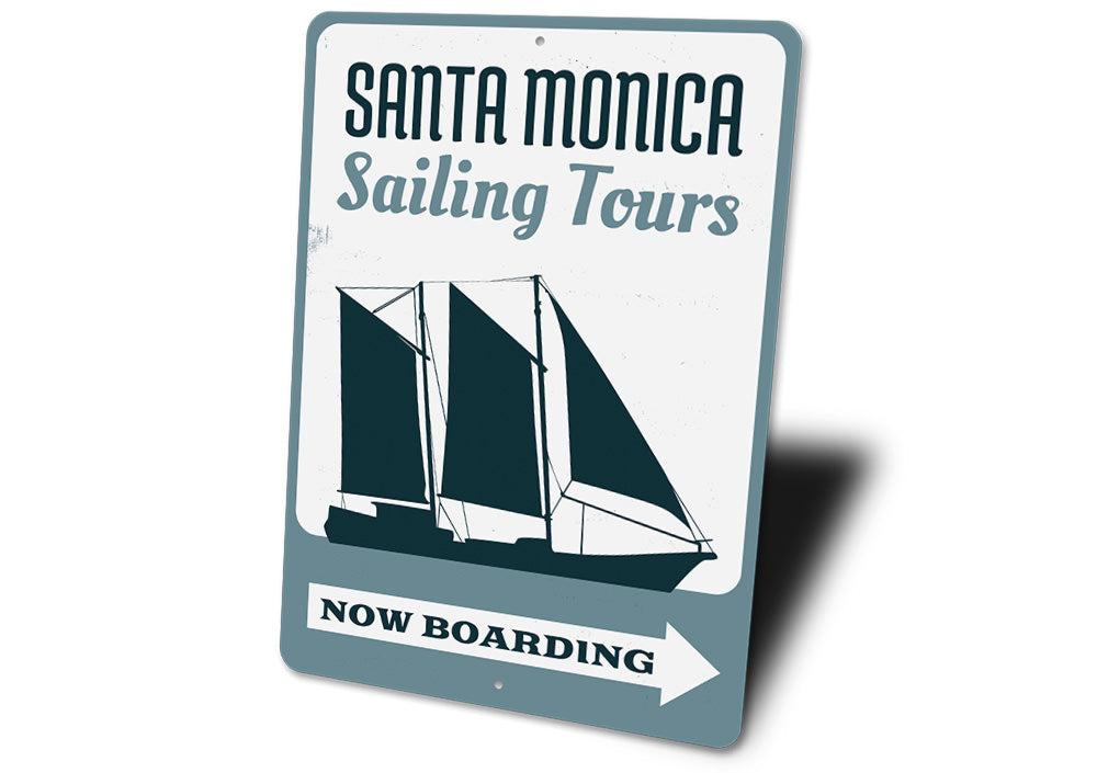 Sailing Tours Sign Aluminum Sign