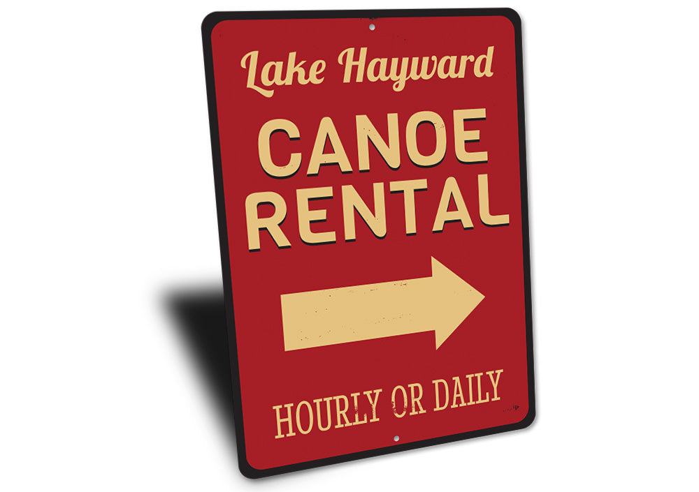 Lake Name Canoe Rental Sign Aluminum Sign