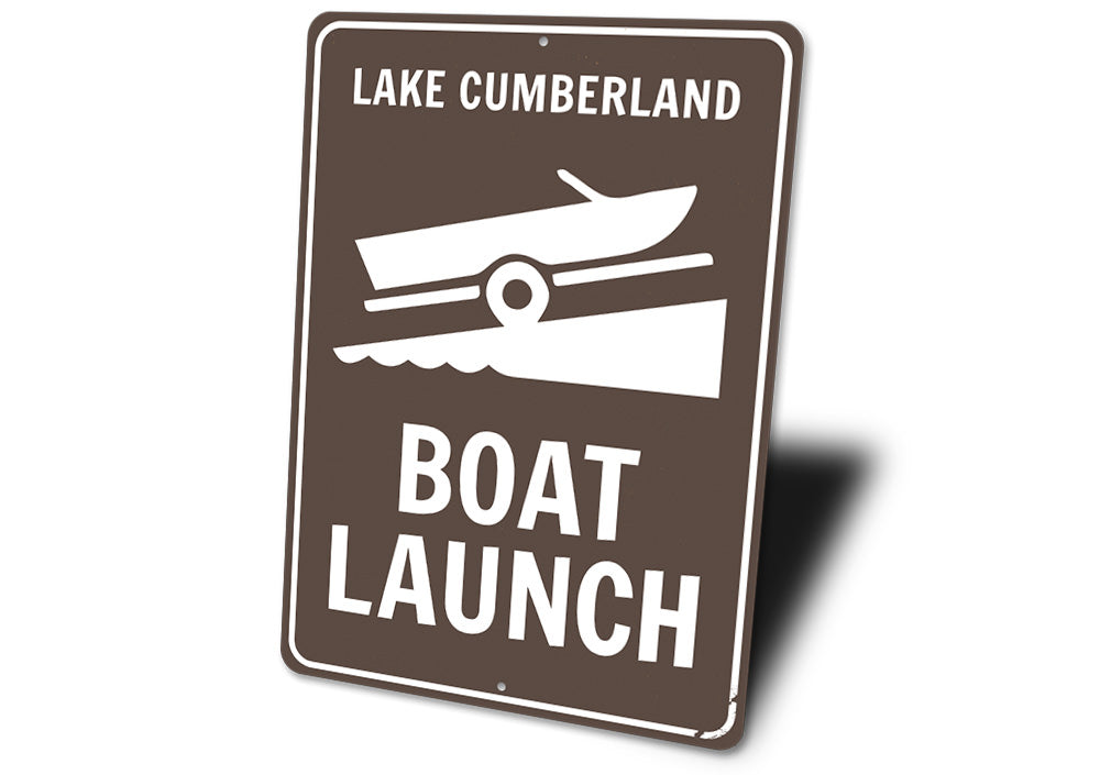 Boat Launch Lake Name Sign Aluminum Sign