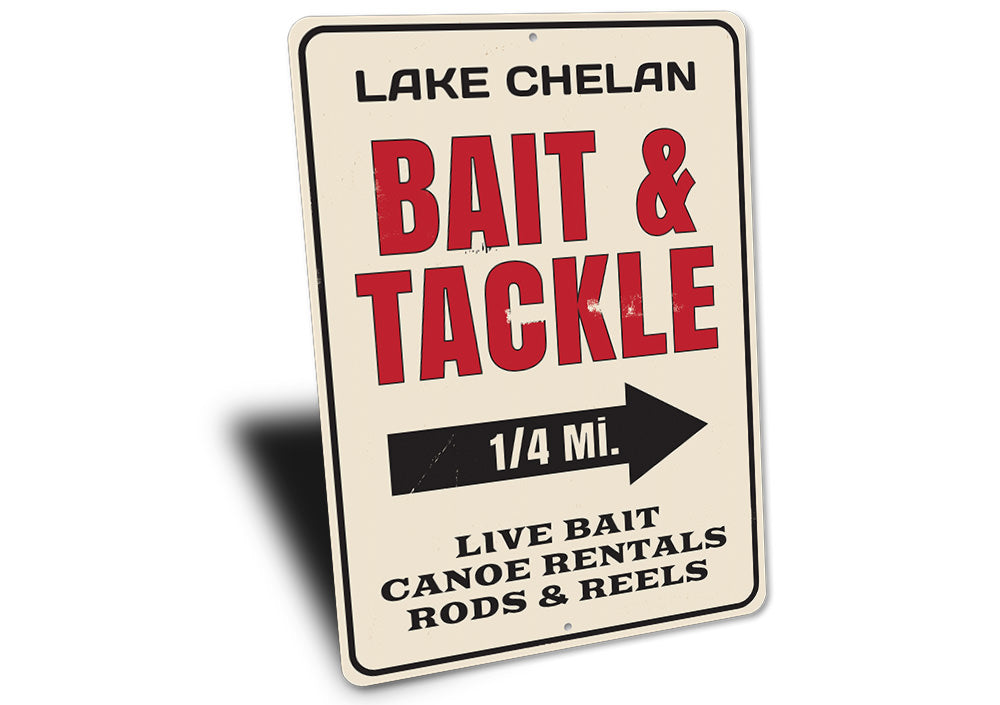 Bait & Tackle Mileage Sign Aluminum Sign