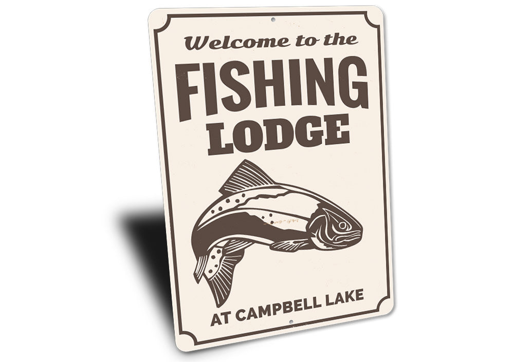 Fishing Lodge Welcome Sign Aluminum Sign