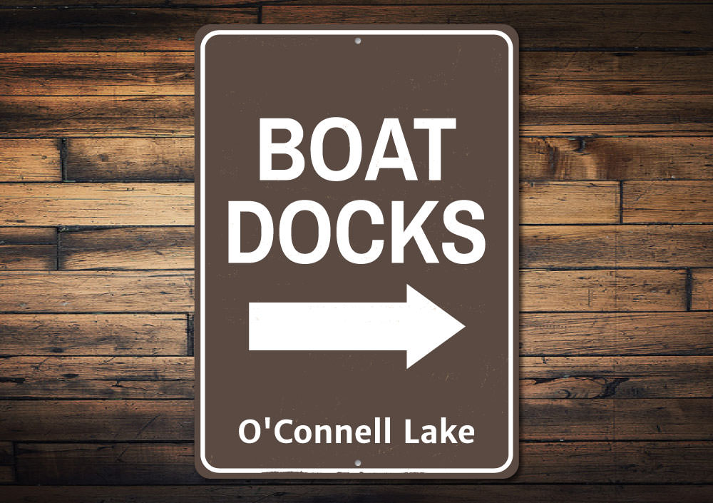Boat Docks Arrow Sign Aluminum Sign