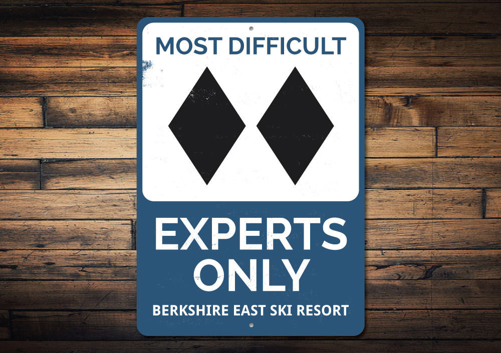 Experts Only Skiing Sign Aluminum Sign