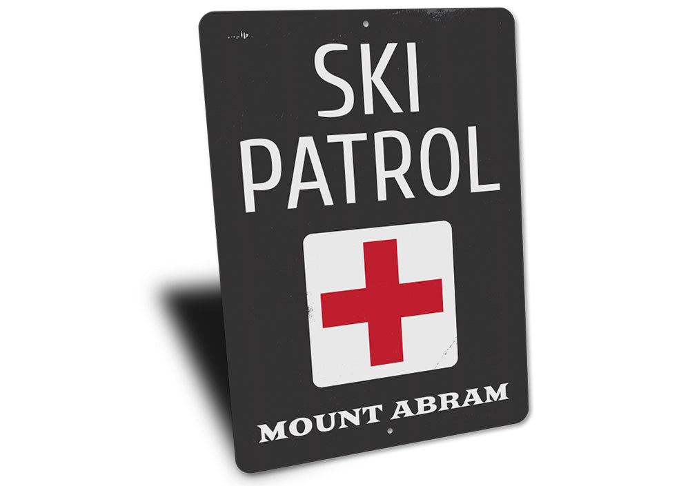Location Ski Patrol Sign Aluminum Sign