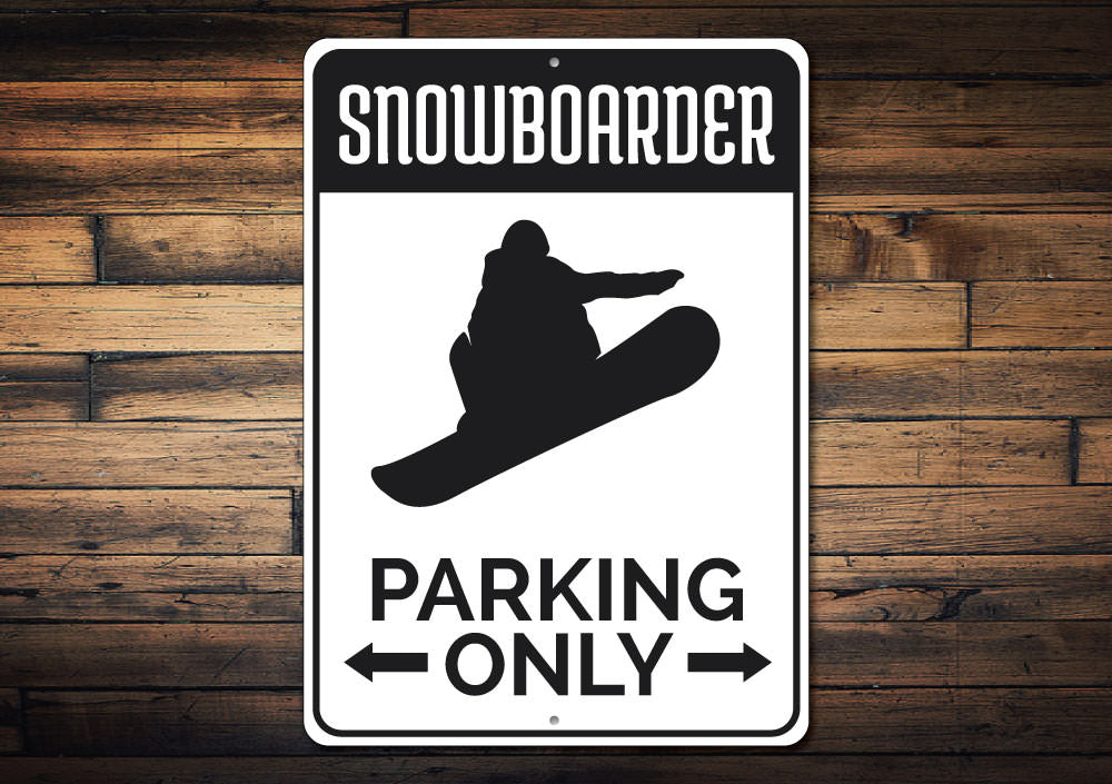 Snowboarding Parking Sign Aluminum Sign