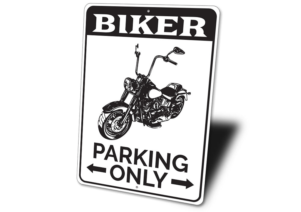 Biker Parking Sign Aluminum Sign