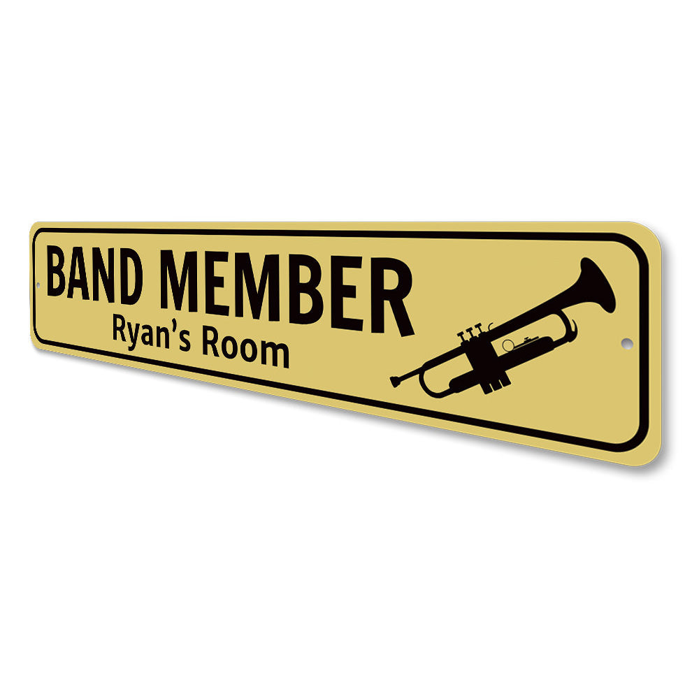 Trumpet Player Sign Aluminum Sign