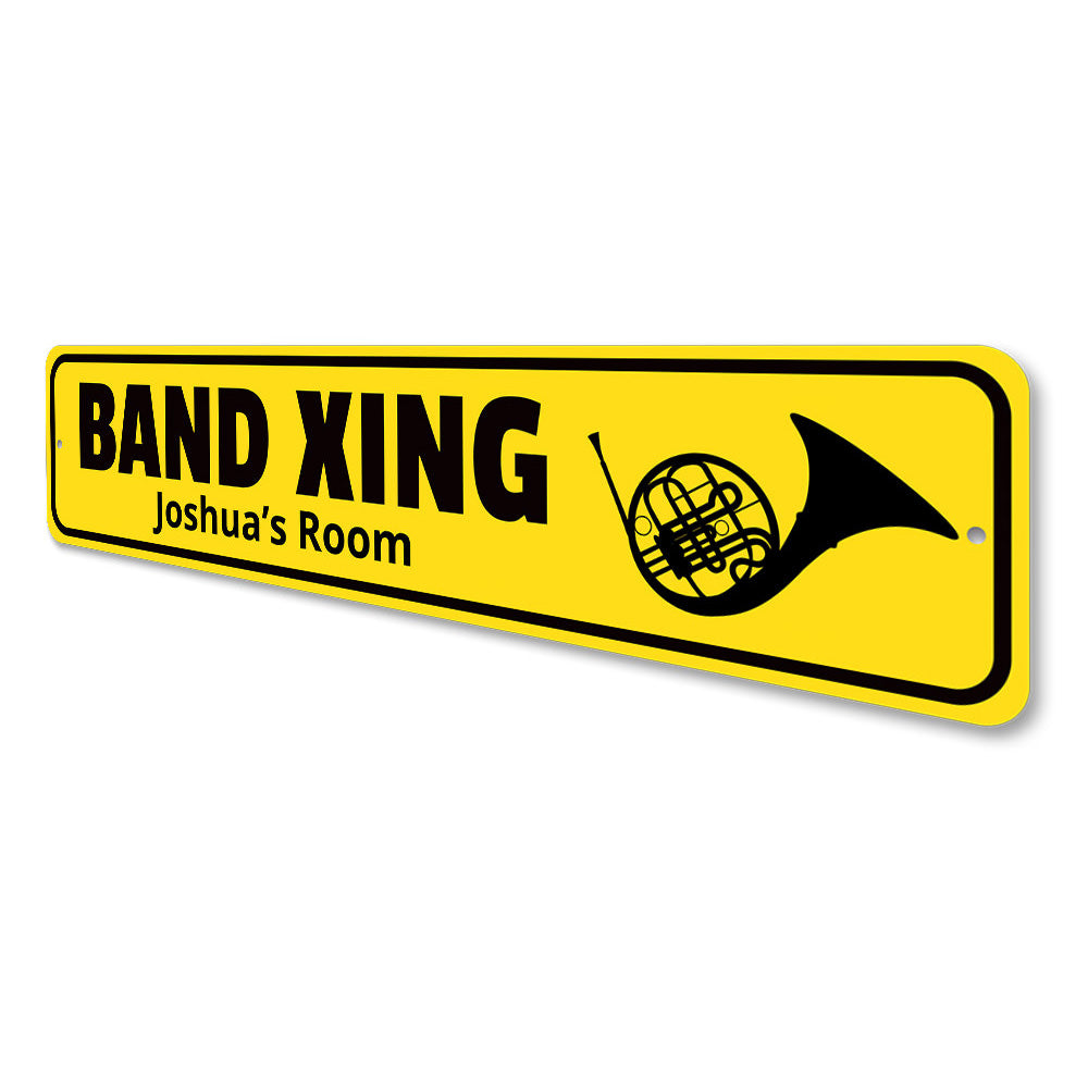 Band Crossing Sign Aluminum Sign