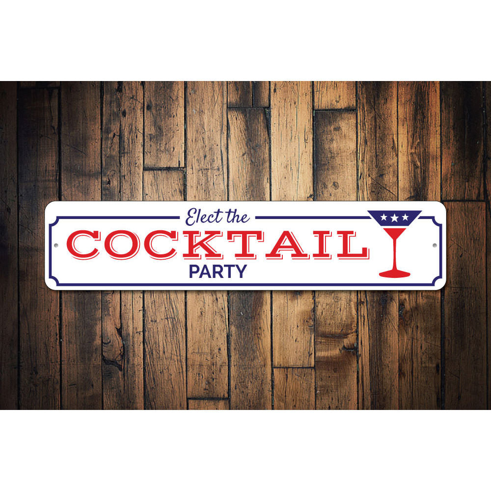 Cocktail Party Sign Aluminum Sign