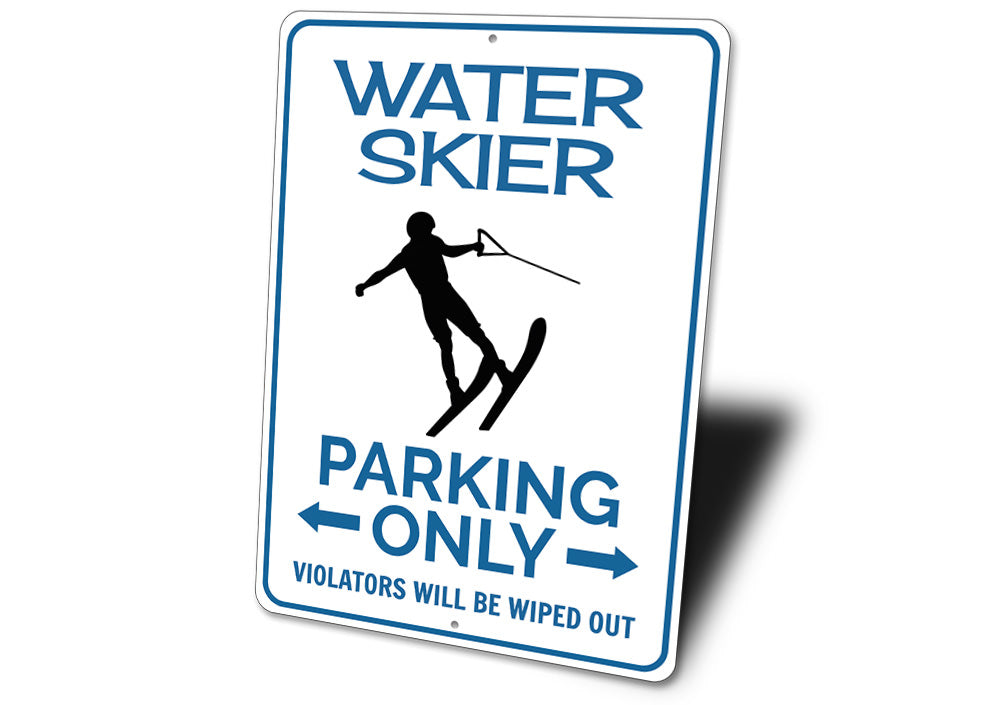 Water Skier Parking Sign Aluminum Sign