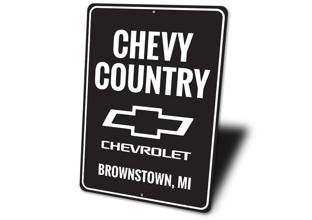 Chevy Country Sign Aluminum Sign