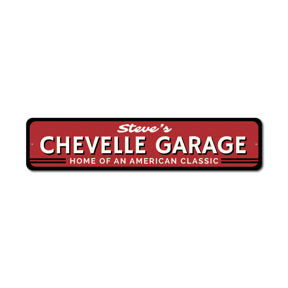 Chevy Chevelle Sign Aluminum Sign