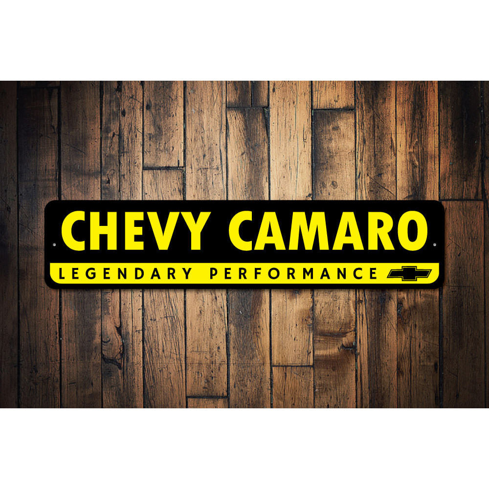 Chevy Logo Camaro Sign Aluminum Sign