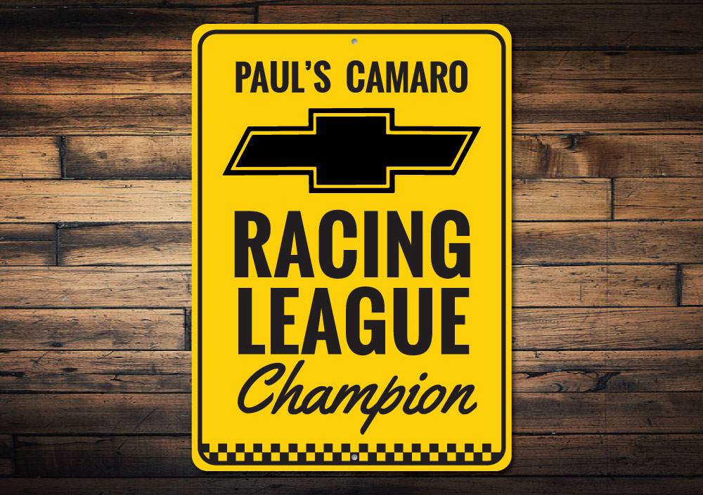 Chevy Racing League Champion Sign Aluminum Sign