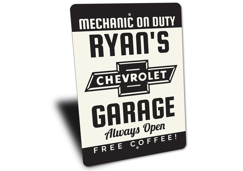 Chevy Garage Sign Aluminum Sign