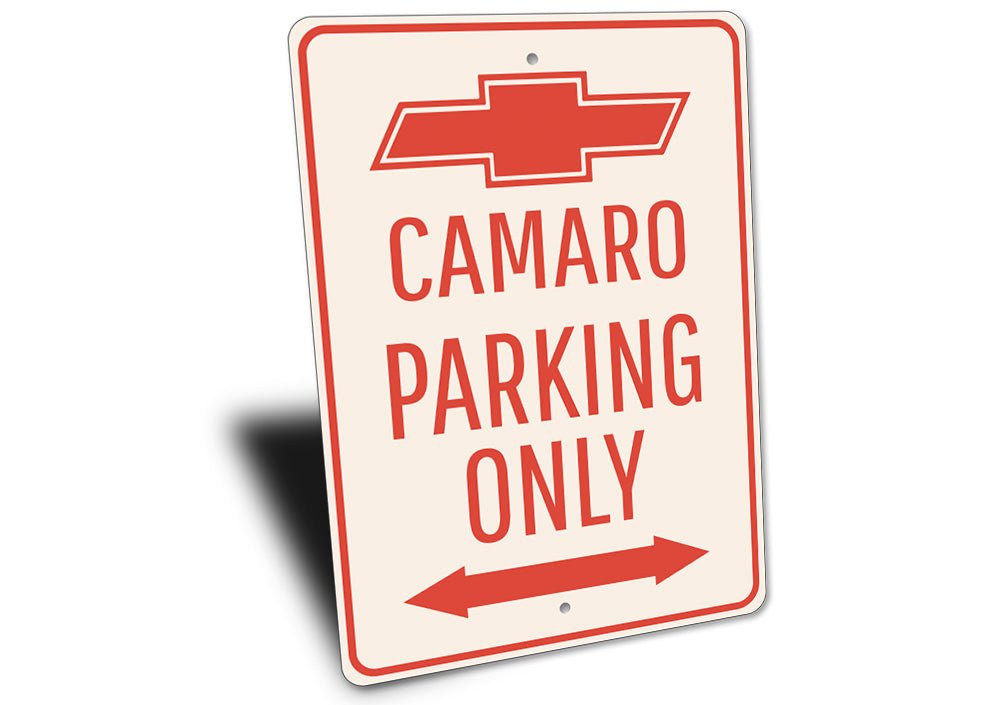 Camaro Parking Only Sign Aluminum Sign