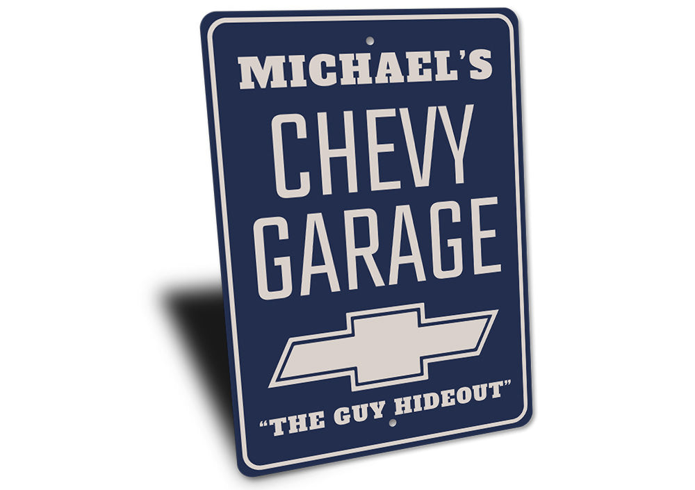 Chevy Logo Garage Sign Aluminum Sign