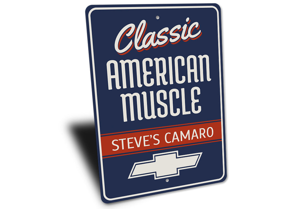 Classic American Muscle Camaro Sign Aluminum Sign