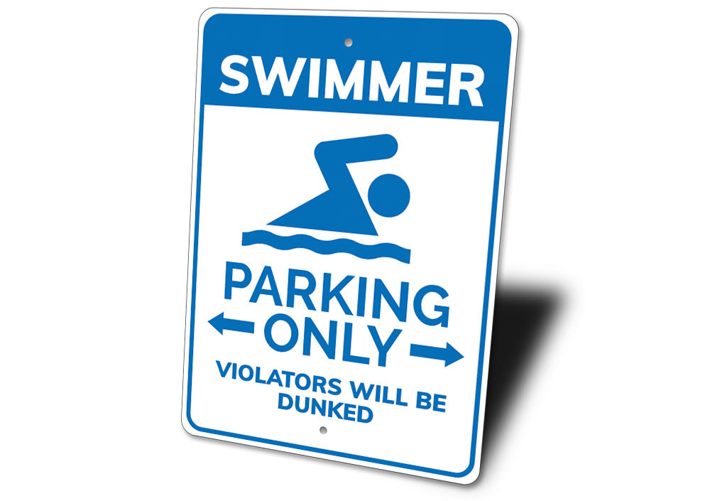 Swimmer Parking Sign Aluminum Sign
