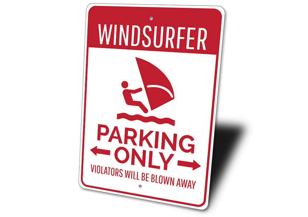 Windsurfer Parking Sign Aluminum Sign