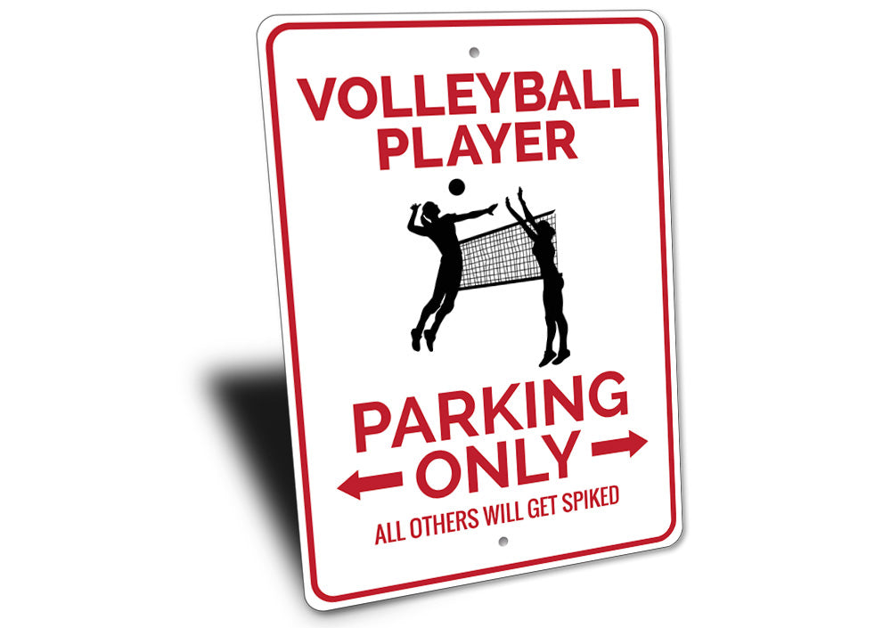 Volleyball Player Parking Sign Aluminum Sign