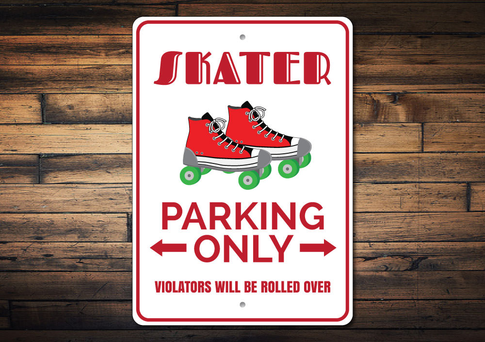 Roller Skate Parking Sign Aluminum Sign