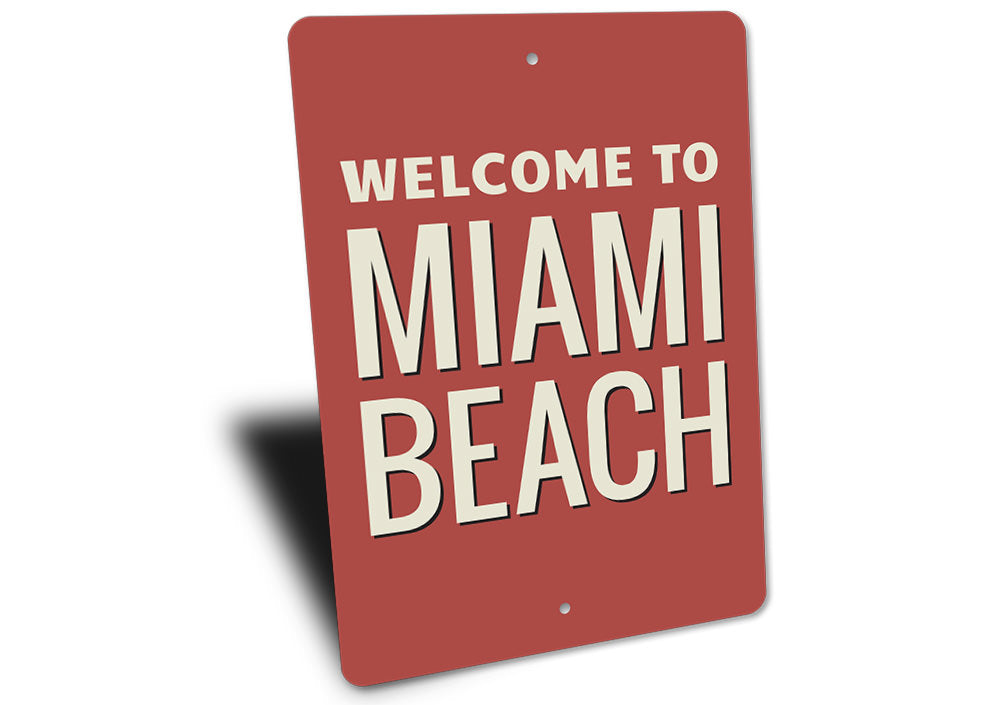 Miami Beach Sign Aluminum Sign