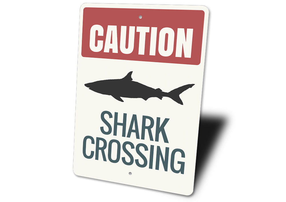 Shark Caution Sign Aluminum Sign