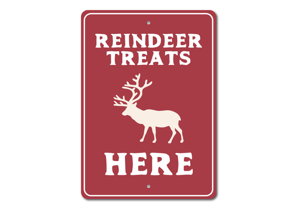 Reindeer Treats Sign Aluminum Sign