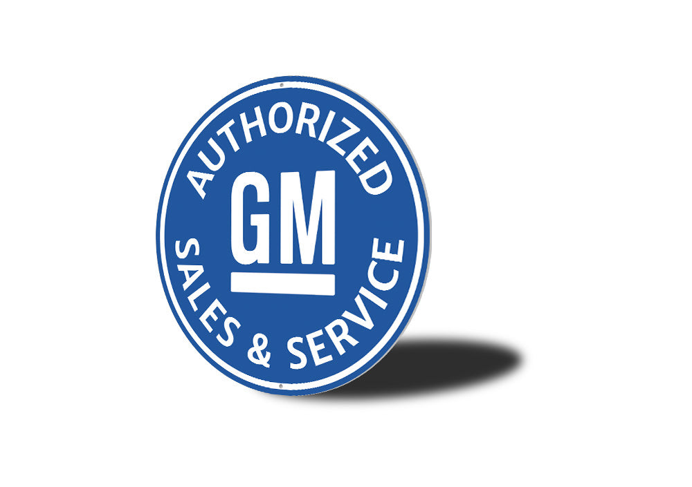 Authorized GM Sales and Service Car Sign Aluminum Sign