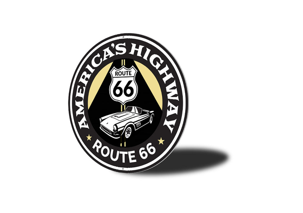 America's Highway Route 66 Road Sign Aluminum Sign