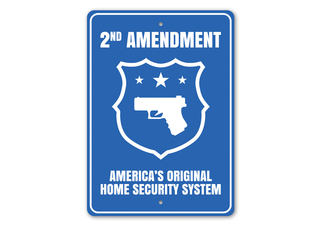 America's Original Home Security System Sign Aluminum Sign