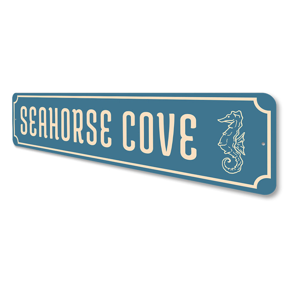 Seahorse Cove, Marine Life Beach  House Decor Aluminum Sign