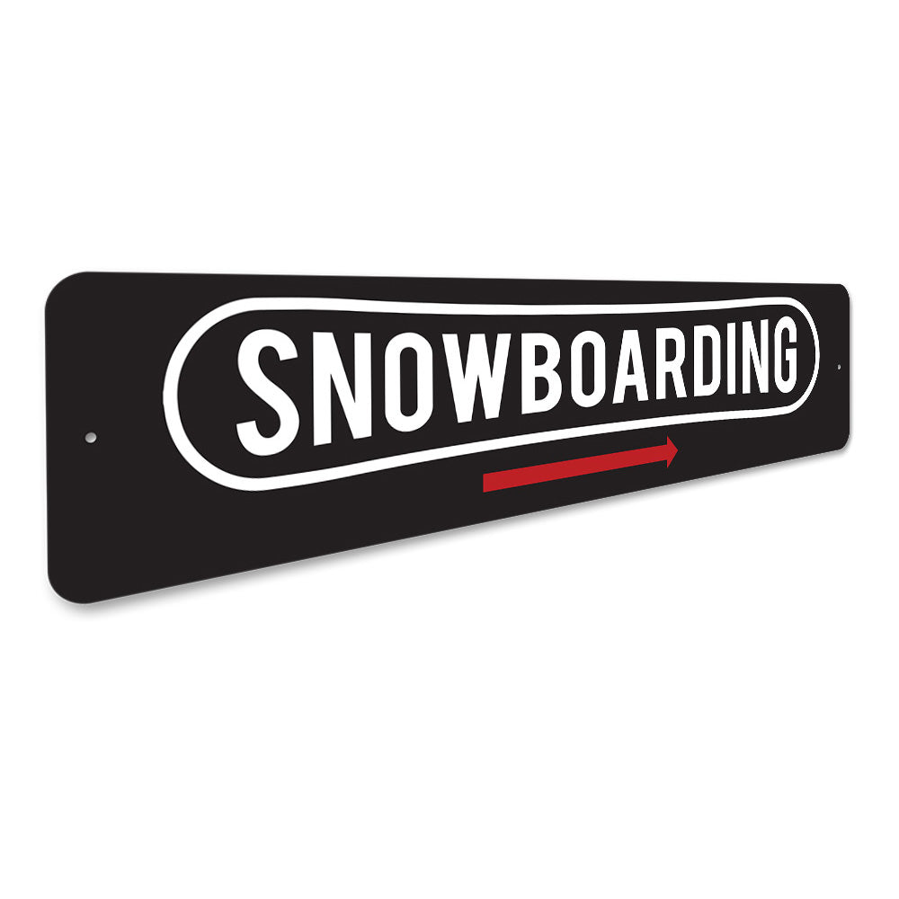 Snowboarding This Way, Ski Lodge Arrow Sign